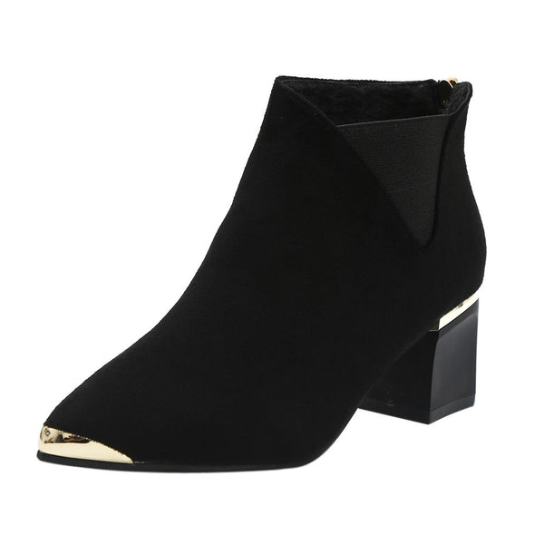 High Heels ankle Boots Sexy Pointed Toe Martin Boots