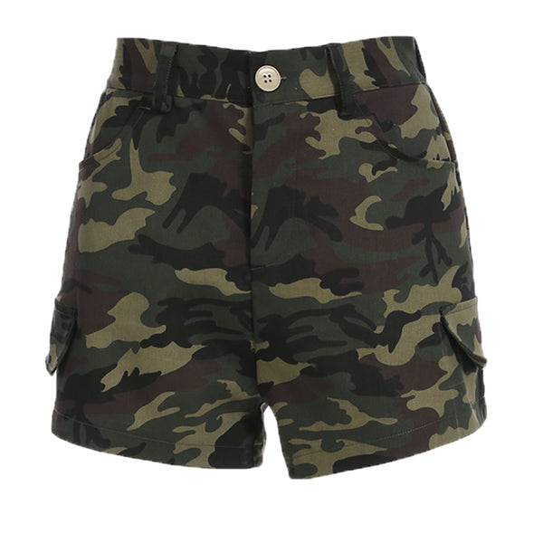 Waist Camo Short Pants Casual Fashion Denim Jeans Shorts 100% Cotton