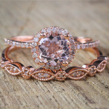 Vintage Wedding Band Promise Engagement Rings For Women