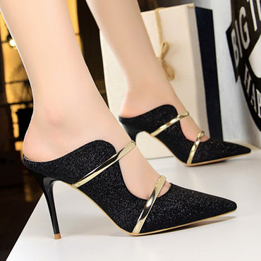 White Gold Sexy High Heels Shoes 2018 New Fashion Summer Style Women Platform Pumps For Party Wedding Shoes Night Club Heels 9CM