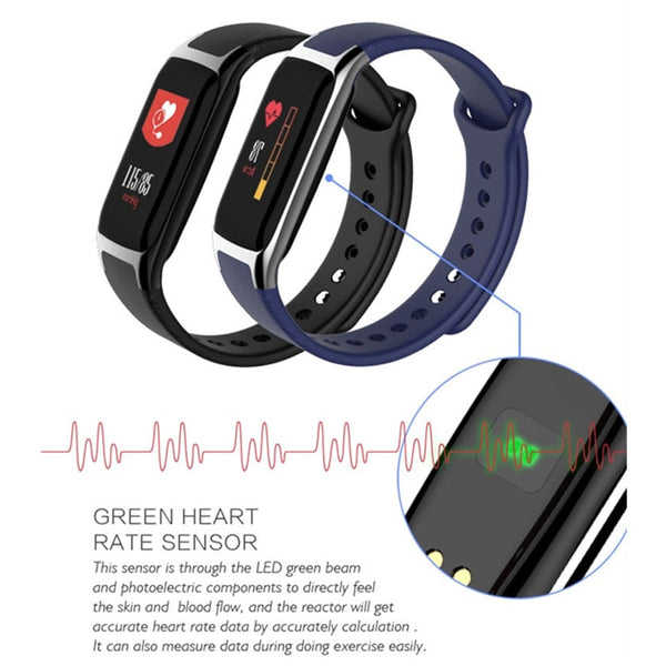 Blood Pressure Wristband Fitness Tracker Smartband Watch for men pk mi band Fit bit band