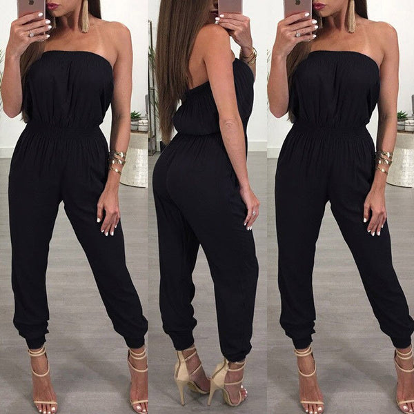 Fashion Women Jumpsuit Off Shoulder Ladies Rompers Holiday Playsuit Jumpsuit Romper Summer Beach Short Romper Clubwear Trousers