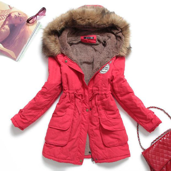 Padded Coat Long Paragraph Plus Size 3xl Slim Jacket Female