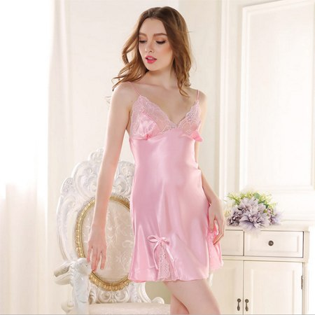 Sexy Sleepshirt Silk Night Gown