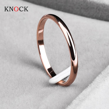 Rose Gold Wedding Couples Rings Bijouterie for Man or Woman Gift