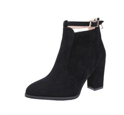 Casual High Heels Pumps Warm Ankle boots.