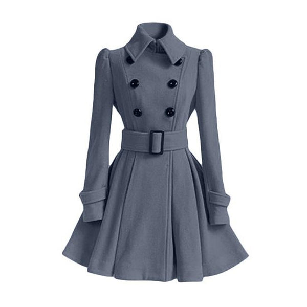 Black Casual Outerwear Vintage Coat