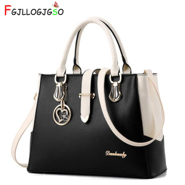 FGJLLOGJGSO brand women Leather handbag totes solid sequined handbag Female party purse ladies messenger crossbody shoulder bags