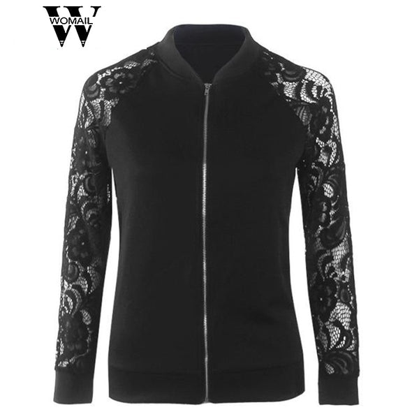 2017 new  women gril fashion Hot Sale Lowest Price Long Sleeve Lace Suit Casual Jacket Coat Outwear  oct30