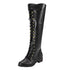 Lace Up Shoes Gladiator Long Tube Boots Knee High  Boots  Fashion Vintage Women Ankle Boots