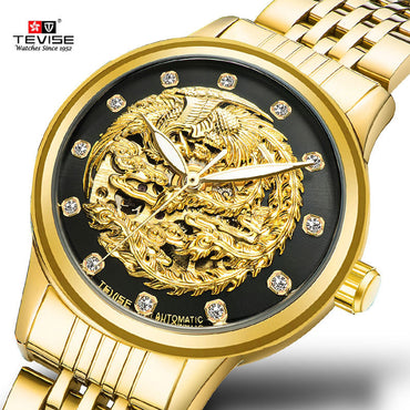 Mechanical Watch Ladies wristwatches TEVISE luxury rhinestone watch