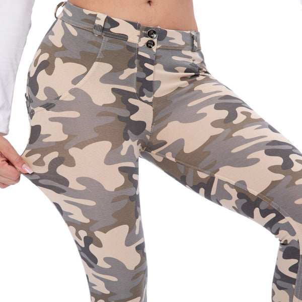 Melody New Women Camouflage Pants Push Up Fitness Trousers For Women Fashion Elastic Leggings Adventure Time Sexy Women Pants