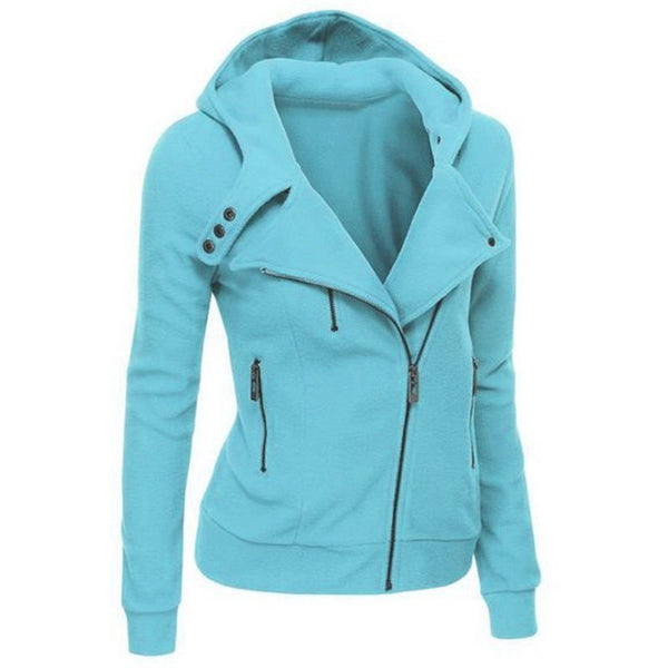 Fashion Hoodies Sweatshirts Women Long Sleeve Hoodies Jackets Zipper Hoody Jumper Overcoat Outwear Harajuku Female Sweatshirts