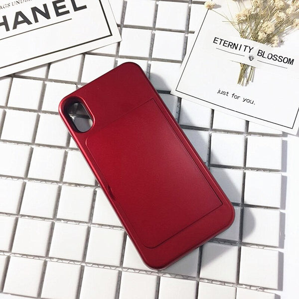 Luxury Mirror Case For iphone Flip Phone Cover.