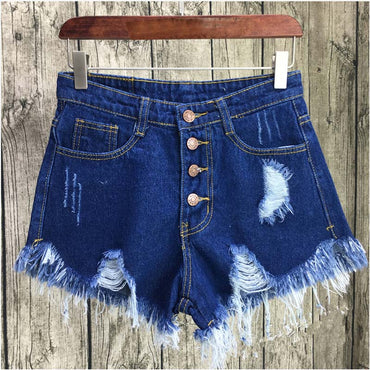women Casual pocket jeans shorts 2017 summer girl hot shorts