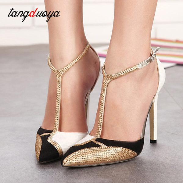 sexy high heels shoes woman 2019 pumps women shoes gold high heels sandals ladies wedding party shoes tacones altos mujer