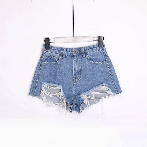 High Waist Jean Shorts Summer Girl Hotpants Booty Shorts