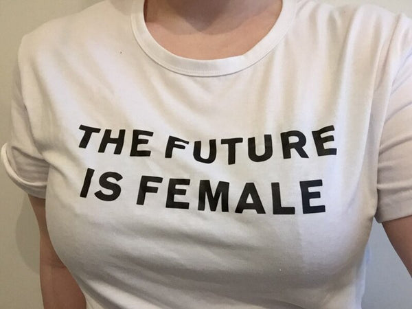 The future is female t shirt women tops plus size feminist pink white black casual t-shirts women tees oversized summer 2017 new