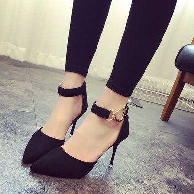 Shallow mouth stiletto heels comfortable versatile high heels.