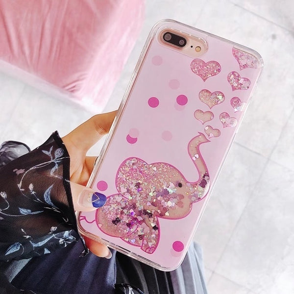 Fashion Bling Liquid Quicksand Case For iPhone.