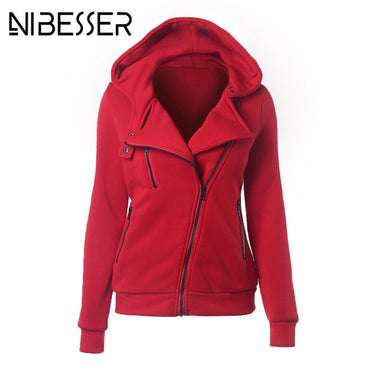 NIBESSER Fashion Long Sleeve Hoodies Hoodies Sweatshirt Women Jackets Zipper Hoody Jumper Spring Female Harajuku Sweatshirts
