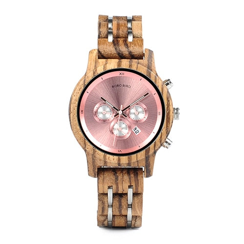 Luxury Versatile Ladies Wooden Timepieces.