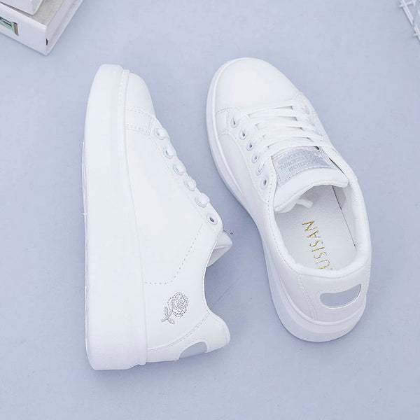 New wedge fashion white shoes female platform ladies casual shoes comfortable breathable sneakers.