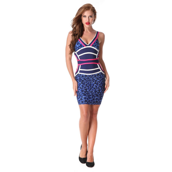 Evening Party Bodycon Club Wear Spaghetti Strap V-neck Vestido Wholesale