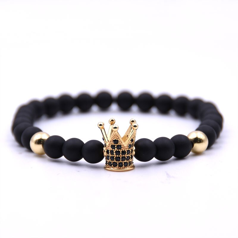 Natural stone bracelets High quality  Crown  Men's and Women.