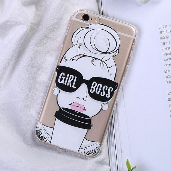 Cute Quote Girl Boss Case For iPhone.
