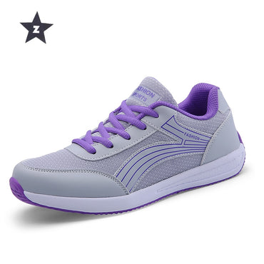 walking shoes casual breathable mesh mixed colors light sport shoes for woman