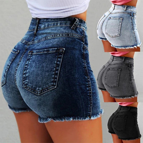 Laamei Fashion Sexy High Waist  Denim shorts 2019  Summer Casual Straight Skinny Women Zipper Fly Short Jeans Feminino Femme