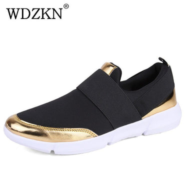 WDZKN 2018 Big Size 35-42 Women Shoes Breathable Casual Shoes Women Spring Summer Lightweight Slip On Loafers Women Flat Shoes