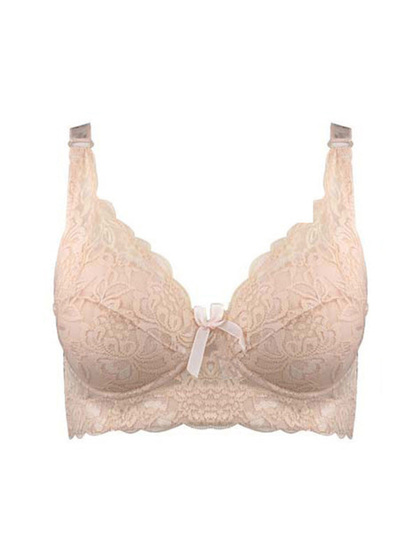 wireless adjustable lace Women's bra breast cover B C D cup Large size Lace Bras