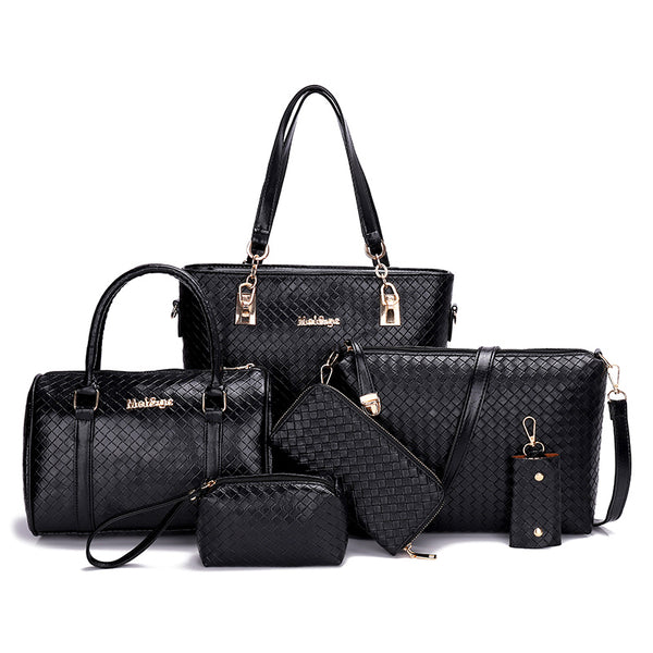 6 Pcs/Set Bags Women Handbags Leather Shoulder Bags.
