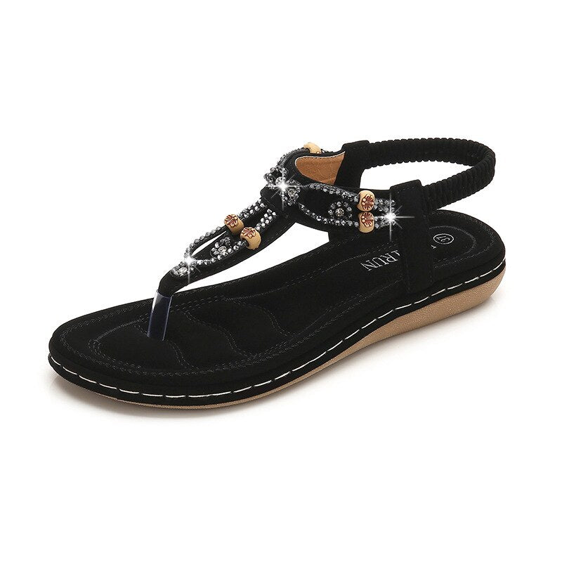 Crystall beach shoes sandals female clip toe outdoor sandals.
