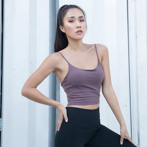 Sexy Stuning Color Gym Sport Bra Top Women Vest-Type Jogger