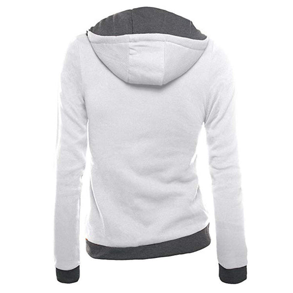 Feitong Autumn Womens Zipper Hoodies Sweatshirts Oblique Slim Fit Hoodie Jacket Long Sleeve Coat Sweatshirt sudadera mujer 2019