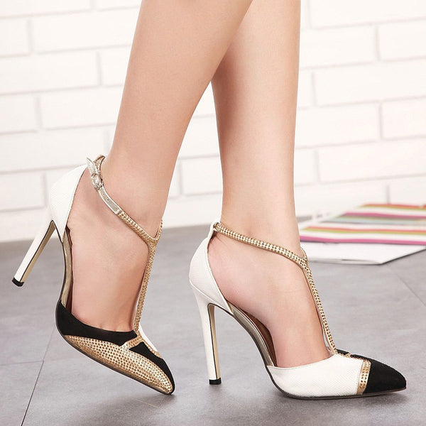 sexy high heels shoes pumps women shoes gold high heels sandals ladies wedding party shoes tacones altos mujer
