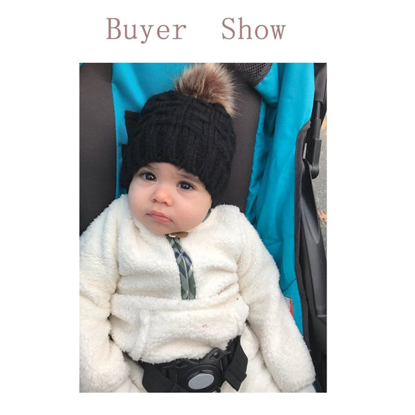 MUQGEW Cute Toddler Kids Girl&Boy Hat Baby Infant Winter Warm Crochet Knit Hat Beanie Cap Baby Caps Hats For Girls Childrens Hat