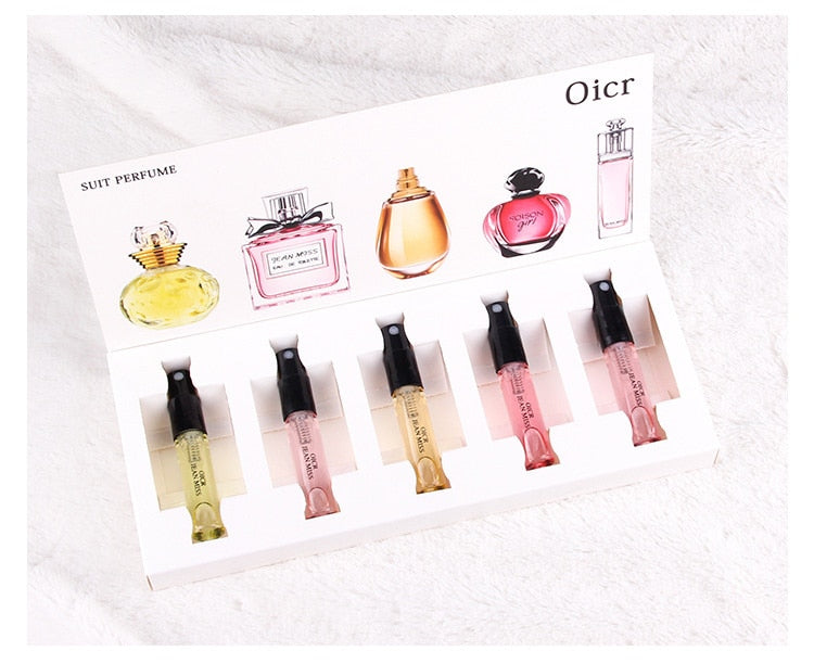 MayCreate 5pcs/Set Perfumed for Women Atomizer Perfumed Beautiful Package Parfums.
