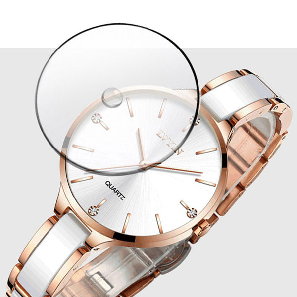 Rose Gold Watch Female High Quality Water Resistant Wrist Watch