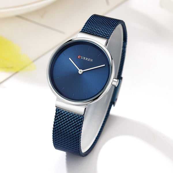Blue Quartz Women Watches Sport