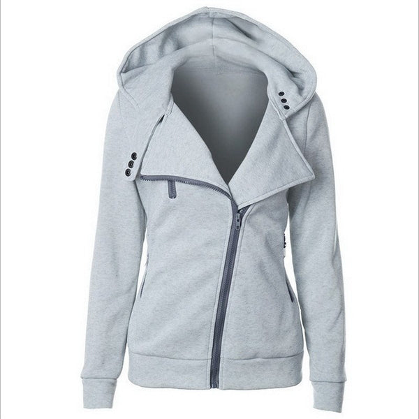 Fashion Hoodies Sweatshirts Women Long Sleeve Hoodies Jackets Zipper Hoody