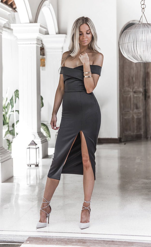 Evening Party Club Wear Dress Black White Sexy Dresses Women Fashion Bandage Bodycon