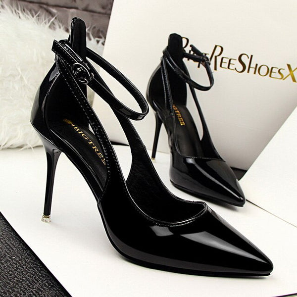 High Heels Pumps Patent Leather Stiletto.