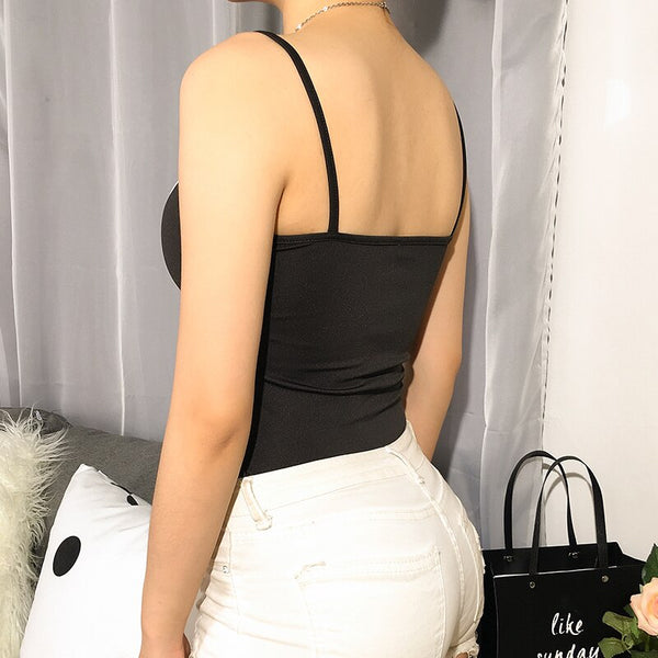 Sweetown Criss Cross Bandage Strapless Backless Sexy Bodysuit Women White In Black Patchwork Spaghetti Strap Bodysuits Elegant