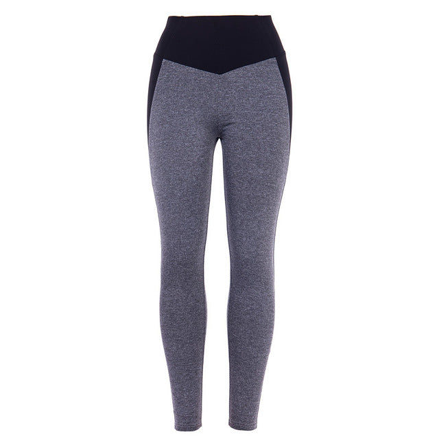 Fitness Leggings High Waist Push Up Patchwork.