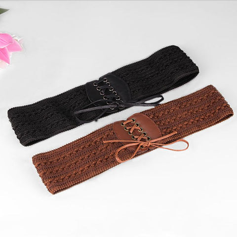 stretchy strap elegant waist belts women for female dress women wide waist waistband