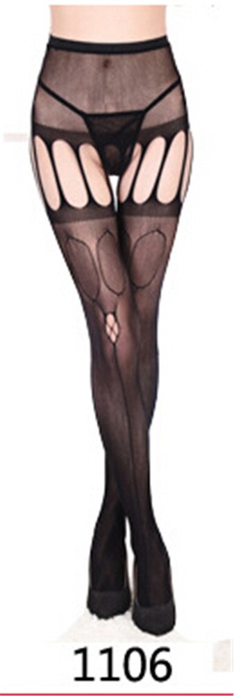 Hot 11 Styles Sexy Thigh High Stockings Women Black Fishnet Jacquard Stocking Pantyhose Tights